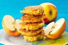 Pancake del Apple fotografia stock libera da diritti