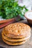 Pancake del cece Fotografie Stock