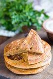 Pancake del cece Fotografia Stock
