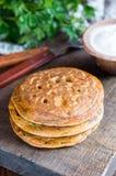 Pancake del cece Fotografia Stock Libera da Diritti