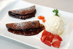Pancake del cioccolato Fotografia Stock Libera da Diritti