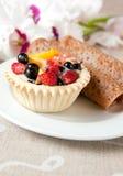 Pancake del cioccolato e torta operata fotografia stock libera da diritti