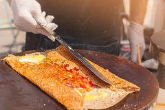 Pancake del cuoco Fotografie Stock