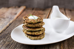 Pancake del fegato Fotografia Stock