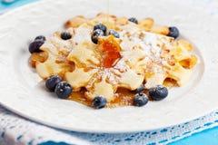 Pancake del fiocco di neve di natale Fotografie Stock Libere da Diritti