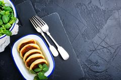 Pancake del formaggio fotografie stock