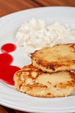 Pancake del formaggio Fotografia Stock