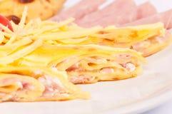 Pancake del formaggio Immagini Stock