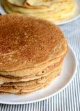 Pancake del grano saraceno Fotografie Stock