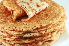Pancake del grano saraceno Immagini Stock