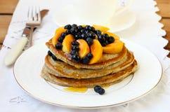 Pancake del lino Immagine Stock