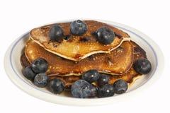 Pancake del mirtillo Fotografie Stock