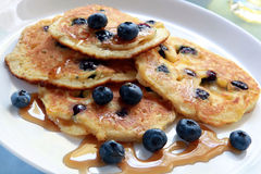 Pancake del mirtillo Fotografia Stock