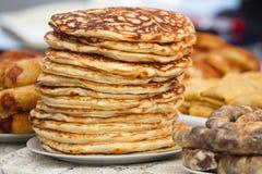 Pancake del mucchio Fotografia Stock