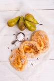 """Pancake del polacco del †di Racuchy """"con i frutti Fotografia Stock"""