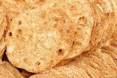 Pancake del sesamo Fotografia Stock