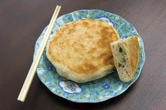 Pancake del sesamo della prima colazione Fotografia Stock