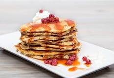 Pancake. Delicious pancake, with sourcream sweet Royalty Free Stock Photography
