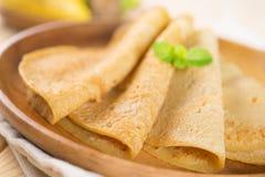 Pancake della banana Fotografia Stock