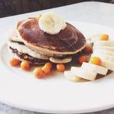 Pancake della banana immagini stock libere da diritti
