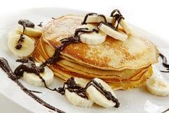 Pancake della banana Fotografie Stock Libere da Diritti