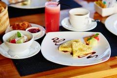 Pancake della banana di balinese Fotografia Stock