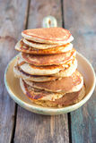 Pancake della crusca d'avena Fotografie Stock