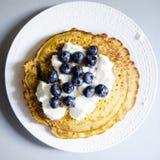 Pancake della farina di ceci Fotografie Stock