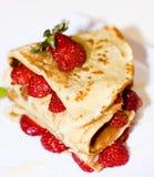 Pancake della fragola Immagine Stock Libera da Diritti