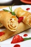 Pancake della frutta Fotografie Stock Libere da Diritti