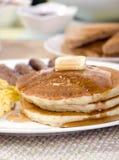 Pancake della prima colazione Fotografia Stock