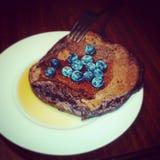 Pancake della proteina fotografia stock libera da diritti
