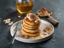 Pancake della ricotta Fotografie Stock