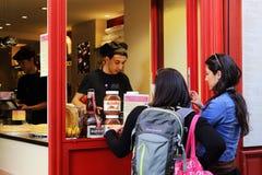 Pancake della via in Montmartre Fotografia Stock