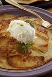 Pancake di Apple Fotografie Stock Libere da Diritti