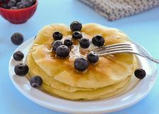 Pancake di Bueberry Immagine Stock