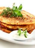 Pancake di patata fotografia stock