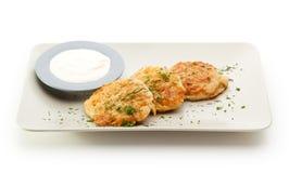 Pancake di patata Fotografie Stock Libere da Diritti