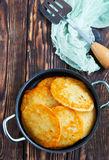 Pancake di patata immagini stock libere da diritti