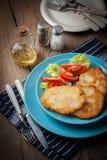 Pancake di patata casalinghi fritti croccanti Fotografie Stock Libere da Diritti