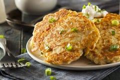 Pancake di patata irlandesi casalinghi di Boxty Fotografia Stock