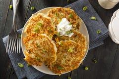 Pancake di patata irlandesi casalinghi di Boxty immagini stock