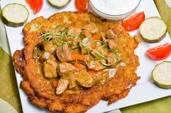 Pancake di patata ungherese Immagini Stock Libere da Diritti