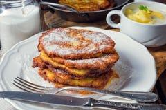 Pancake di patata zuccherati Immagini Stock Libere da Diritti