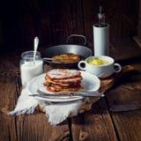 Pancake di patata zuccherati Fotografia Stock Libera da Diritti