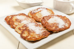 Pancake di Patato Fotografie Stock Libere da Diritti
