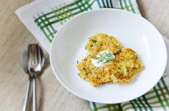 Pancake di verdure Fotografia Stock