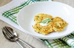 Pancake di verdure Immagine Stock