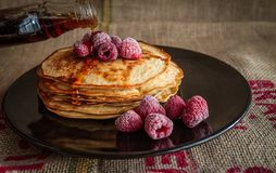 Pancake, Dish, Breakfast, Pannekoek Stock Photo