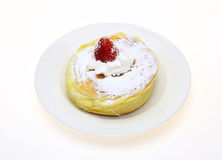 Pancake on a dish Royalty Free Stock Photos